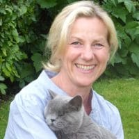 Caroline and her blind cat Jane