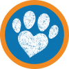 Paw Print with transparent background
